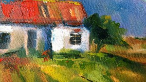 My house - oil on canvas