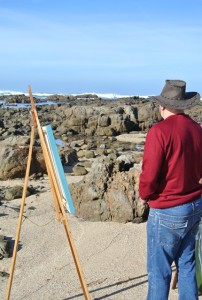 Painting on the beach Stilbaai1