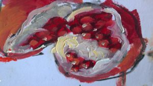 Pomegranates - oil on canvas