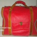 Handmade red leather weekend bag R3500