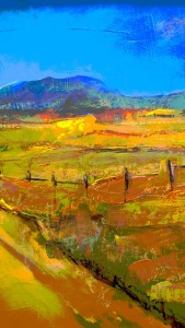 Karoo landscape - oil on canvas1